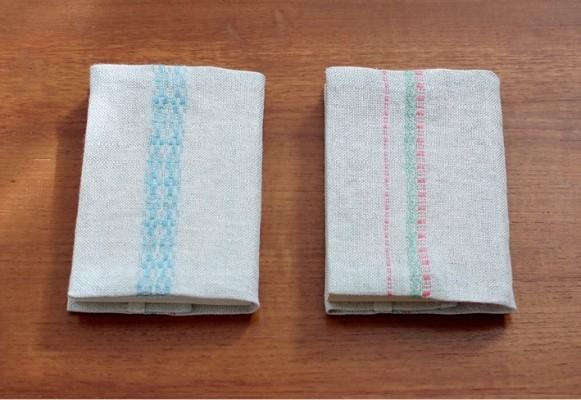 暮らしの織り2  リネンのブックカバー