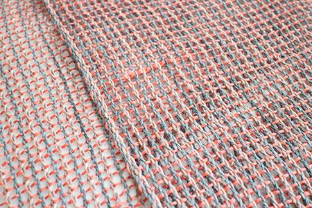 紗と絽を織る